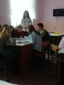 Lecție cu public, realizată de profesoara Ludmila Vișniovaia